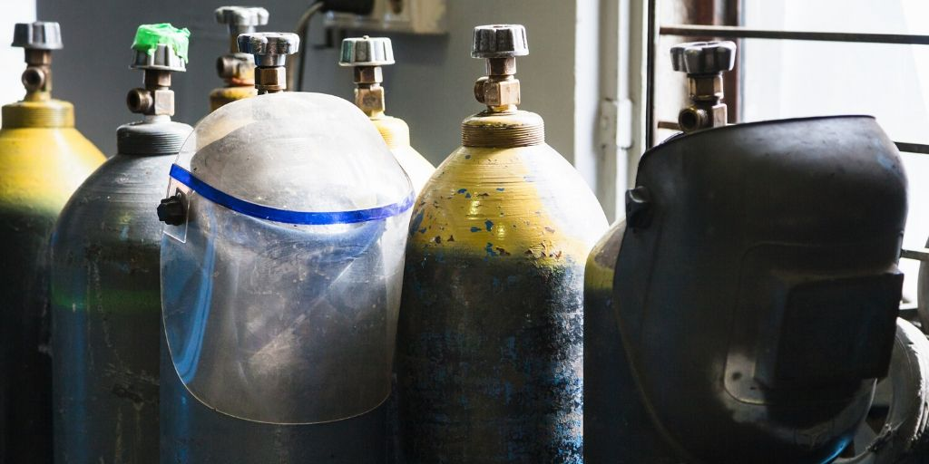 acetylene and oxygen tanks