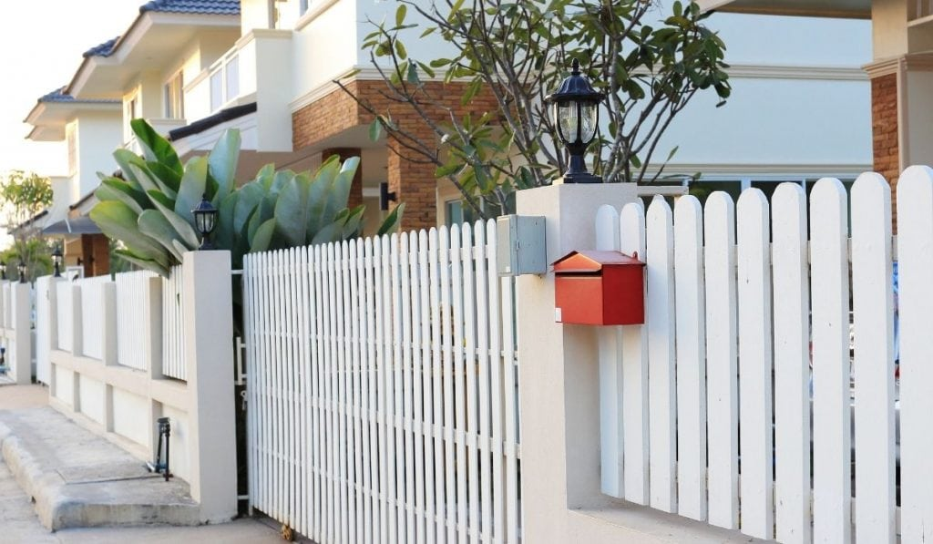 white front gate