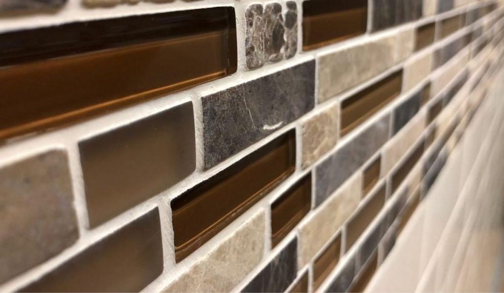 Glass Tiles Accent Walls and Framing